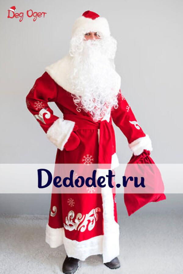 Костюм Деда Мороза Боярский вид спереди