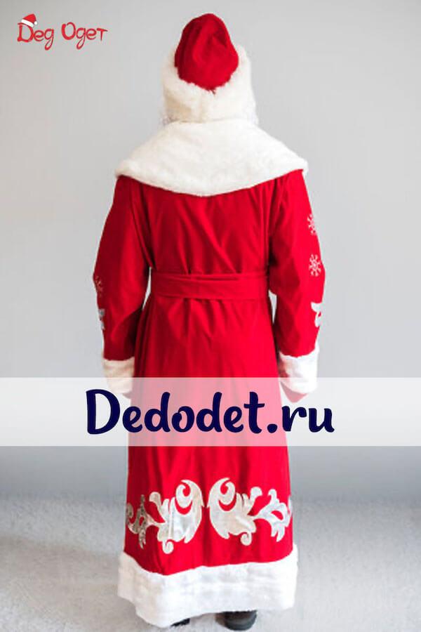 Костюм Деда Мороза Боярский вид со спины