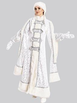 Костюм Снегурочки Боярыня Белый