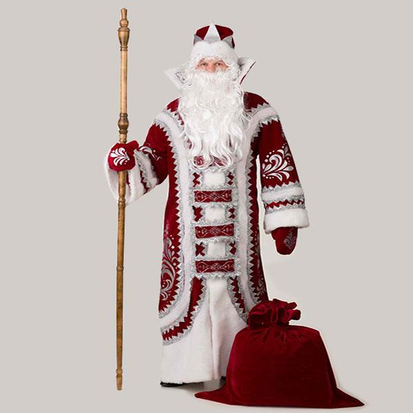 Костюм Деда Мороза Купеческий Бордовый в Екатеринбурге