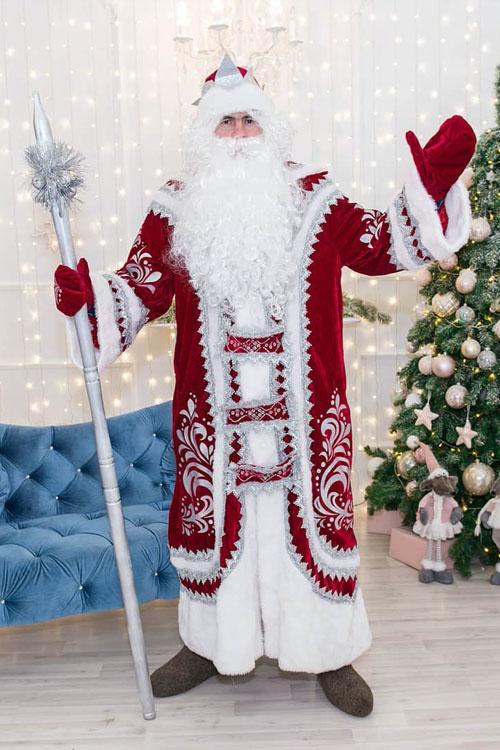 Костюм Деда Мороза Купеческий Бордовый купить в Екатеринбурге