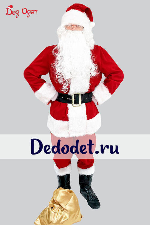 Костюм Санта-Клауса Люкс вид спереди