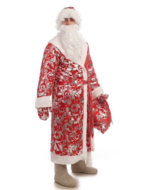 Костюм Деда Мороза Блестящий купить в Екатеринбурге