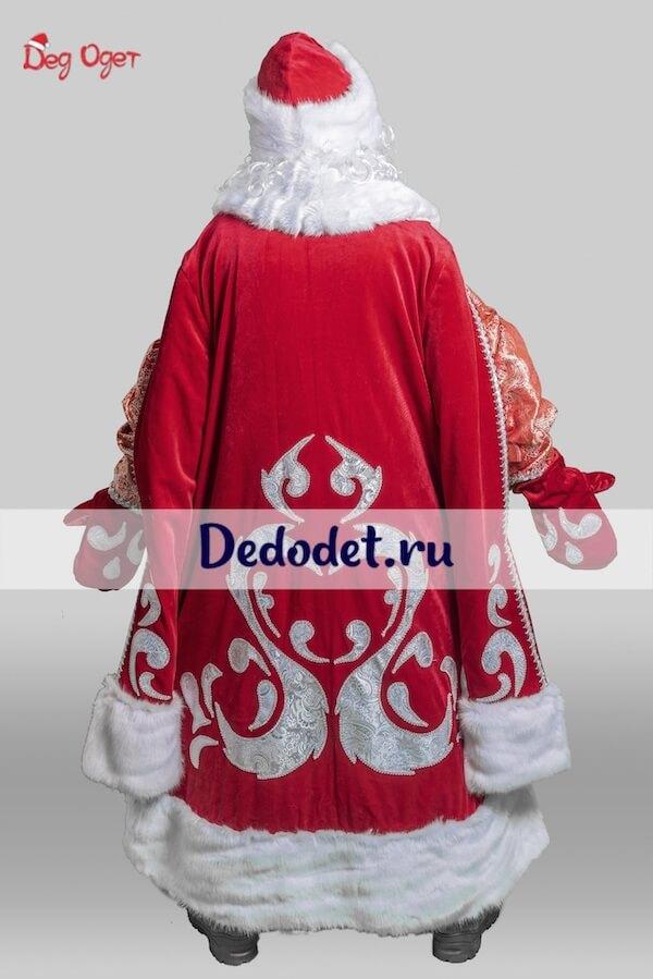 Костюм Деда Мороза Богатый вид сзади