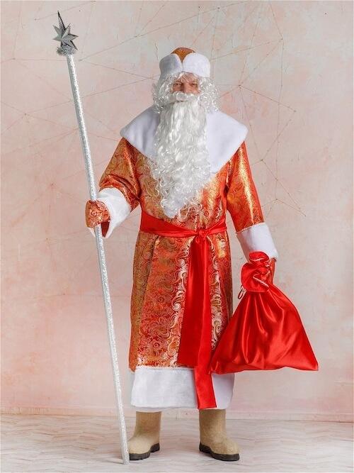 Костюм Деда Мороза Золотой  вид спереди