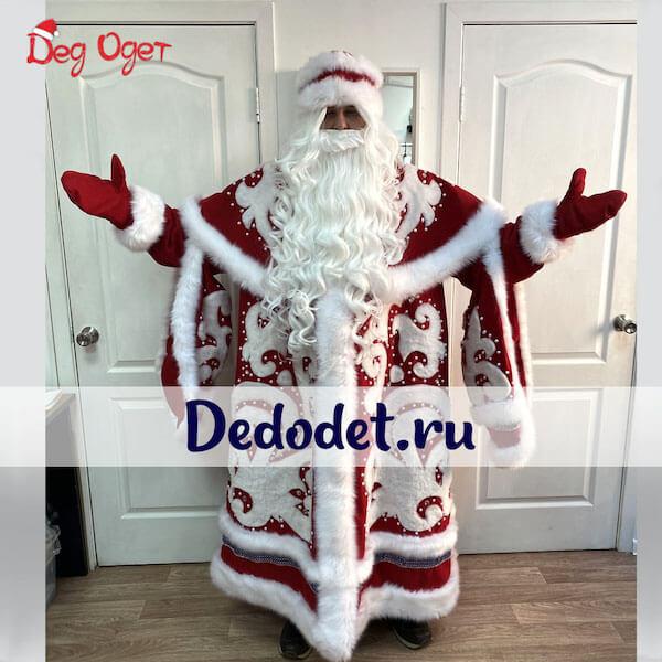 Костюм Деда Мороза ВИП ручной работы в Екатеринбурге