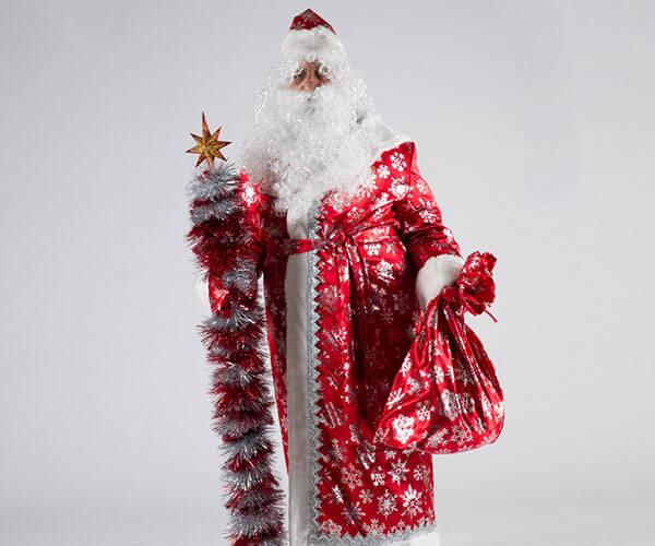 Костюм Деда Мороза Сатин в Екатеринбурге