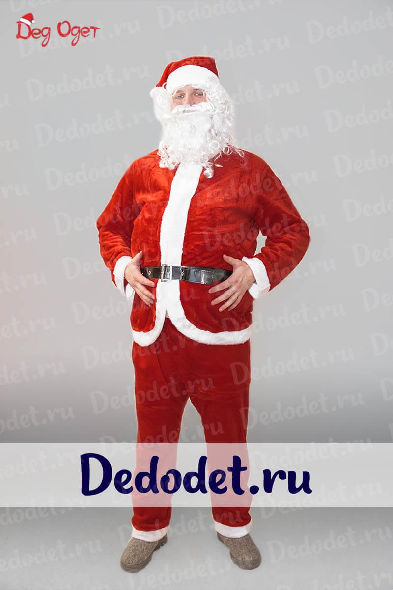 Костюм Санта-Клауса Эконом вид спереди